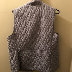 Women's Quilted Vest - light gray